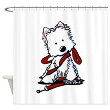 LET'S GO! Westie Shower Curtain