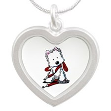 LET'S GO! Westie Silver Heart Necklace