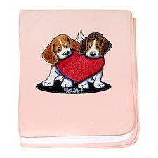 Beagle Heartfelt Duo baby blanket
