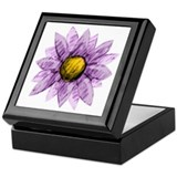 Purple Flower Keepsake Box