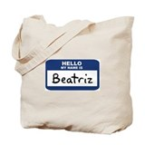 Hello: Beatriz Tote Bag
