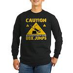 CAUTION BOX JUMPS - BLACK Long Sleeve T-Shirt