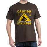 CAUTION BOX JUMPS - BLACK T-Shirt