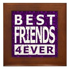 Best Friends 4 Ever Framed Tile