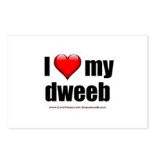"""Love My Dweeb"" Postcards (Package of 8)"