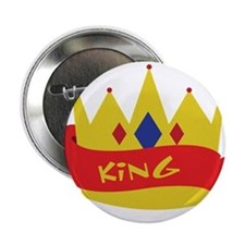 "King Crown Ribbon 2.25"" Button"