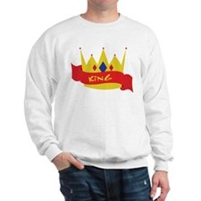 King Crown Ribbon Sweatshirt