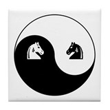 Knight-Knight yin yang Tile Coaster