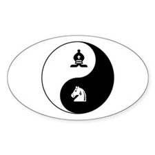 Bishop-Knight yin yang Oval Decal