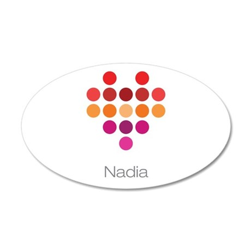 I Heart Nadia Wall Decal