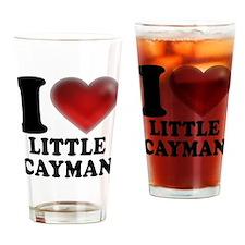 I Heart Little Cayman Drinking Glass