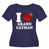 I Heart Grand Cayman Plus Size T-Shirt