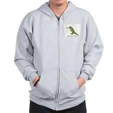 Rawr - Means I Love You in Dinosaur Zip Hoodie
