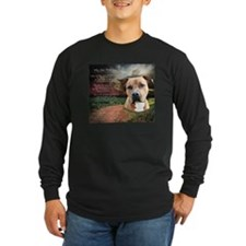 """Why God Made Dogs"" AmStaff Long Sleeve T-Shirt"