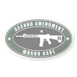 Second Amendment - Green White - Decal
