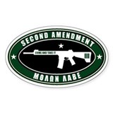 Second Amendment - Green White - Pegatinas