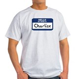 Hello: Charlize Ash Grey T-Shirt