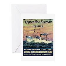 Apprentice Seaman Training Greeting Cards (Pk of 2