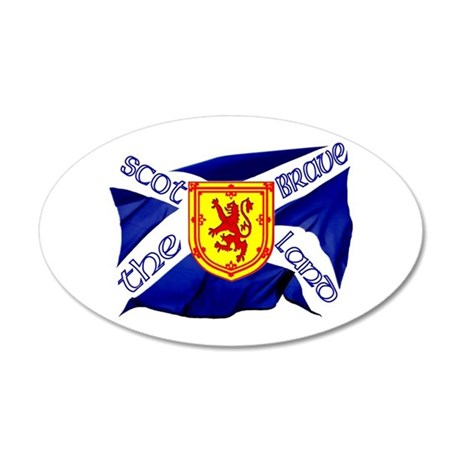 Scotland the brave flag Wall Sticker