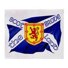Scotland the brave flag Throw Blanket