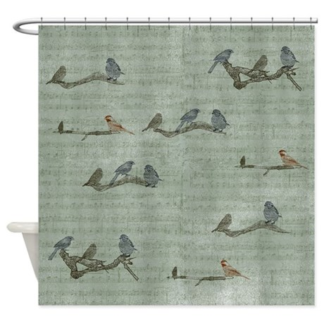 Birds On Branches Shower Curtain By Be Inspired By Life