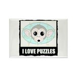 I LOVE PUZZLES Rectangle Magnet (10 pack)