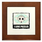 I LOVE PUZZLES Framed Tile
