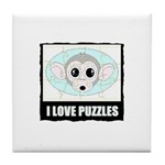 I LOVE PUZZLES Tile Coaster