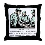 Veins Fact Throw Pillow