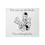 Soberphobic Throw Blanket