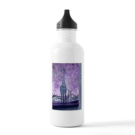 Purple Giraffe Stainless Water Bottle 1.0L