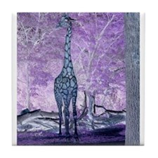 Purple Giraffe Tile Coaster