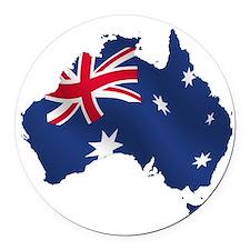 Australia Round Car Magnet