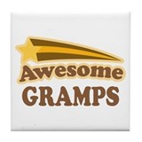 Awesome Gramps Tile Coaster