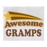 Awesome Gramps Throw Blanket