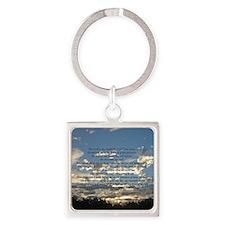 Beautiful Psalm 23 Square Keychain
