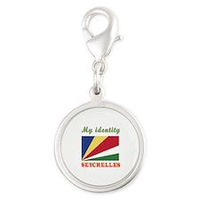 My Identity Seychelles Silver Round Charm