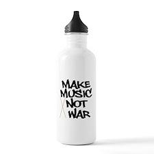 Make Music Not War Drums Water Bottle