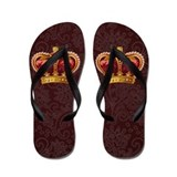 Vintage Royal Crown of Gold Flip Flops