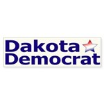 Dakota Democrat Bumper Sticker