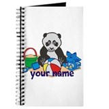 Personalized Beach Panda Journal