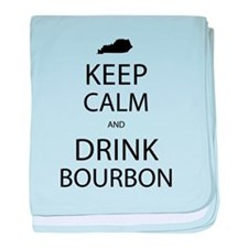 Keep Calm and Drink Bourbon baby blanket