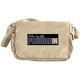 Live my Life Plugged In Messenger Bag