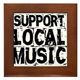 Support Local Music Framed Tile