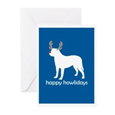 "Bullmastiff ""Happy Howlidays"" Greeting Cards (Pack"