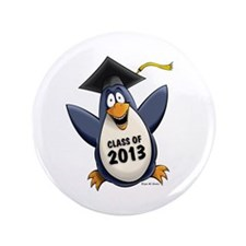 "2013 Graduate Penguin 3.5"" Button (100 pack)"
