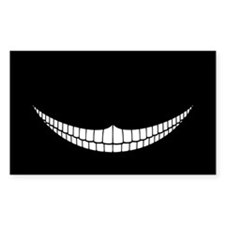 Cheshire Grin Rectangle Decal