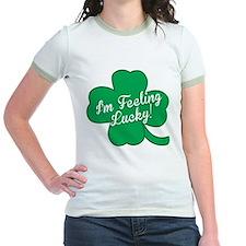 Feeling Lucky St. Patricks Day Clover T-Shirt