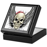 Skull, guitars, and wings Keepsake Box