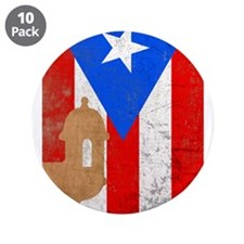 "Puerto rico el moro 3.5"" Button (10 pack)"